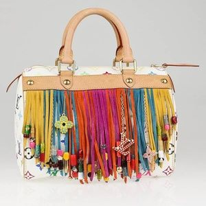 Louis Vuitton Limited Ed. Fringe Speedy 25 Satchel